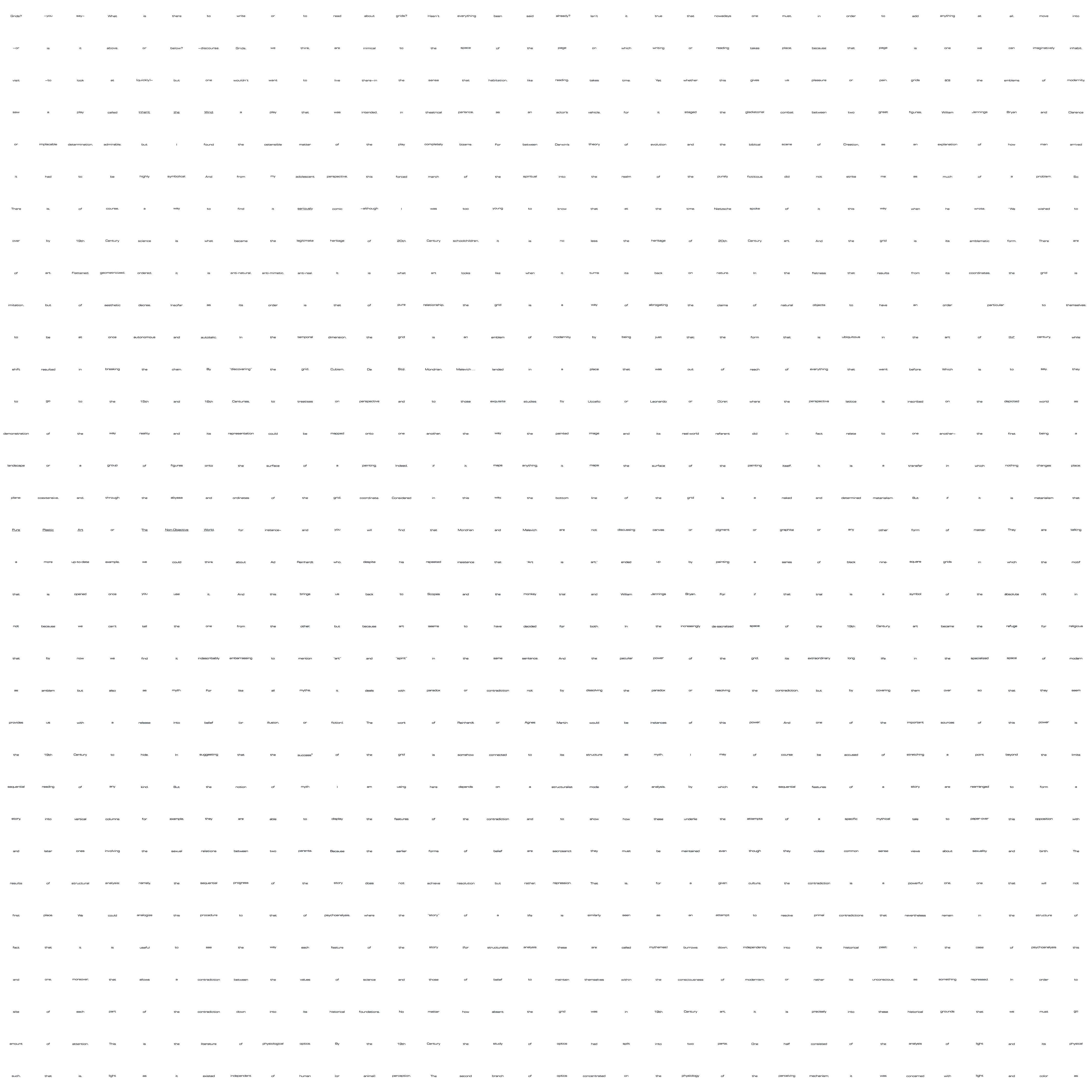 rosalind krauss grids essay Rosalind e krauss rosalind krauss a monograph of essays by krauss rosalind krauss' text is followed by illustrations of works by donald judd.